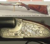 "L. C. SMITH 20 BORE SPECIALTY GRADE- VERY NICE ORIG. COND.- MADE in 1941- 28"" EJECT Bbls.- FEATHERWEIGHT FRAME at 6 Lbs. 10 Oz.- 14 1/4"" LOP"