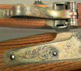 """SHARPS- SHILOH MOD 1874- BIG TIMBER, MONT.- 40-70 2 1/2- HEAVY 26"""" OCTAGON MATTE Bbl.- KEN HURST 50% COVERAGE of SUPER ENGRAVING- OVERALL 99%- EX - 6 of 8"""