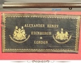 """ALEXANDER HENRY- 450 3 1/4"""" BPE- 1881 CLASSIC REBOUNDING HAMMER UNDERLEVER BACK-ACTION EXP.- EXC. PLUS BORES & CHAMBERS- ORIG. O&L TRUNK- SOLID P - 6 of 6"""
