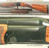 """PERAZZI 16 & 12- 2 Bbl. SET MODEL MX16- 1997 as a 16 and in 2002 the 12 Bbls. ADDED & ARE FACTORY NUMBERED to the GUN- OVERALL 96%- 29 1/2"""" & 26 - 1 of 5"""