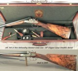 """POLI 12 SIDELOCK HAMMER GUN- 2003- 90% COVERAGE of EXC. & WELL CUT ENGRAVING- 30"""" EXTRACTOR CHOPPER LUMP DEMIBLOC Bbls.- EXC. WOOD- 14 3/4""""-"""