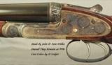 "WILKES 12 BORE PAIR of BEST SIDELOCK GAME GUNS by JOHN & TOM WILKES- 1993 & REMAIN LIKE NEW- 28"" CHOPPER LUMP Bbls.- EXC. WOOD- EXC. ENGRAVING- B - 3 of 11"