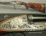 RIGBY 470 N. E. LONDON SIDELOCK EJECTOR- LONDON PROOF 1998- 90% COVERAGE of FLORAL & 3 AFRICAN GAME ANIMALS- EXC. WOOD- OVERALL REMAINS at 98%- CASED - 2 of 8