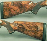 RIGBY 470 N. E. LONDON SIDELOCK EJECTOR- LONDON PROOF 1998- 90% COVERAGE of FLORAL & 3 AFRICAN GAME ANIMALS- EXC. WOOD- OVERALL REMAINS at 98%- CASED - 4 of 8