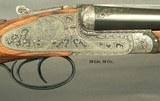 RIGBY 470 N. E. LONDON SIDELOCK EJECTOR- LONDON PROOF 1998- 90% COVERAGE of FLORAL & 3 AFRICAN GAME ANIMALS- EXC. WOOD- OVERALL REMAINS at 98%- CASED - 6 of 8