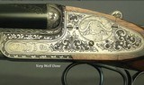 RIGBY 470 N. E. LONDON SIDELOCK EJECTOR- LONDON PROOF 1998- 90% COVERAGE of FLORAL & 3 AFRICAN GAME ANIMALS- EXC. WOOD- OVERALL REMAINS at 98%- CASED - 3 of 8