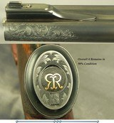 RIGBY 470 N. E. LONDON SIDELOCK EJECTOR- LONDON PROOF 1998- 90% COVERAGE of FLORAL & 3 AFRICAN GAME ANIMALS- EXC. WOOD- OVERALL REMAINS at 98%- CASED - 8 of 8