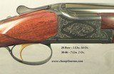 BROWNING BELGIUM 30-06 & 20 CONTINENTAL GRADE I O/U SET- REMAINS NEW & UNFIRED- ONE OWNER GUN- VERY NICE CLARO WALNUT- SUPERLIGHT STYLE- OVERALL 99.5% - 4 of 6