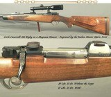 CASARTELLI 416 RIGBY- MAG MAUSER ACTION- SUPERB ENGRAVING by the ITALIAN MASTER Mr. MARIO TERZI- A FULL SIZE TOUGH BUILT RIFLE- 1986- CLAW MOUNTS-NICE - 1 of 8