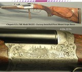 CHAPUIS 9.3 x 74R- MODEL RGEX- FACTORY QD PIVOT MOUNT BASES- 90% FLORAL ENGRAVING & GAME SCENE- OVERALL REMAINS in 98% COND.- 6 Lbs. 12 Oz.- 21 3/4&qu