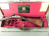 "HOLLAND & HOLLAND 12 SIDELOCK BADMINTON- GOLDEN ERA of 1936- 28"" CHOPPER LUMP Bbls.- WELL KEPT SOLID GAME GUN- CHILTON LOCKS- ORIG. CASE- 6Lbs-9o"