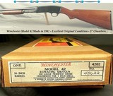 WINCHESTER MODEL 42 MADE in 1942- REMAINS in EXC. ORIG. CONDITION- WITH an EXC. WINCHESTER BOX & PAPERWORK- BLUE at 96%- WOOD at 94%- NICE PIECE