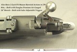 WINCHESTER PRE-64 MOD 70 BARRELED ACTIONS- 1 - 280 REM. & 1 - 270 WIN.- ALSO 2 each FN MAUSER BARRELED ACTIONS- ALL w/ DOUGLAS AIR GAUGE Bbls. - 4 of 4