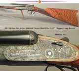 """AYA 16 BAR ACTION SIDELOCK EJECTOR MODEL No. 2- MADE in 2011- 98% COVERAGE of SCROLL- DOUBLE TRIGGERS- 29"""" CHOPPER LUMP Bbls.- VERY NICE WOOD"""