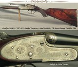 "PURDEY 450/400 2 7/8"" BPE- A VERY NICE PURDEY BAR ACTION SIDELOCK FROM 1895- THE BORES REMAIN in EXC. PLUS COND.- EXC. WOOD- AMMO AVAILABLE"