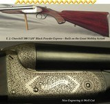 """CHURCHILL 500 3 1/4"""" BPE- WEBLEY ACTION- TOPLEVER HAMMERLESS- EXC. BORES- 98% FINE SCROLL ENGRAVING COVERAGE- DELUXE GRADE WEBLEY ACTION"""