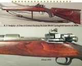 SEDGLEY 30-06 DE LUXE MODEL- ORIG. TRUE & CORRECT DE LUXE- A LOT of ORIG. ENGRAVING- VERY NICE WOOD- EXC. BORE- PROPERLY MARKED & PROOFED
