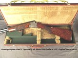 BROWNING BELGIUM GRADE V- FELIX FUNKEN ENGRAVED- 1951 CLASSIC- TOTALLY ORIG. & REMAINS in 97% COND.- NICE WOOD- ORIG. TRUNK CASE- NICE PIECE