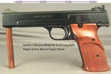 """SMITH & WESSON MODEL 41- 22 L R- MATCH TARGET PISTOL- WITH the CORRECT FACTORY BLUE BOX- MADE ABOUT 1982- ORIG. & OVERALL 97%- 5 1/2"""" Bbl."""