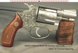 """SMITH & WESSON CLASS """"A"""" FACTORY ENGRAVED MODEL 60 CHIEFS SPECIAL STAINLESS STEEL- 90% COVERAGE OVER THE ENTIRE PIECE- 1 7/8"""" Bbl.- 38"""