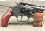 """SMITH & WESSON CLASS """"A"""" FACTORY ENGRAVED MODEL 36 - 90% COVERAGE OVER THE ENTIRE PIECE - .38 S&W SPECIAL - 1 7/8"""" BARREL"""