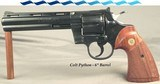 """COLT PYTHON in 357 MAGNUM - 6"""" VENT RIB BARREL - MADE in 1980 - 97% ORIGINAL ROYAL BLUE - 98% CONDITIONED CHECKERED WALNUT GRIPS"""