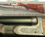 """FRANCOTTE 475 No. 2 N. E.- MADE in 1925- 25"""" EJECT Bbls.- BORES ARE EXC.- WILL PRODUCE 1 3/4"""" GROUPS at 40 YARDS- 9 Lbs. 12 Oz.- STOUT WOOD-"""