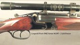 """GERMAN 1940 O/U in 7 x 57R by J.J. REEB- BORES as NEW- 24 1/2"""" KRUPP Bbls.- ORIG. CLAW BASES with a POST-1942 LEUPOLD SCOPE # 1597- BEST 300 SERI - 2 of 7"""