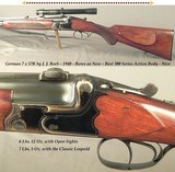 """GERMAN 1940 O/U in 7 x 57R by J.J. REEB- BORES as NEW- 24 1/2"""" KRUPP Bbls.- ORIG. CLAW BASES with a POST-1942 LEUPOLD SCOPE # 1597- BEST 300 SERI"""