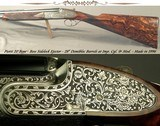 "PIOTTI 20 BORE O/U MODEL BOSS BEST GUN- EXHIBITION WOOD- OUTSTANDING ENGRAVING by GIACOMO FAUSTI at CREATIVE ART- OVERALL 98%- 28"" BARRELS"