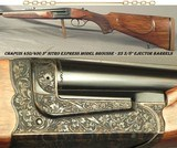 "CHAPUIS 450/400 3"" N. E.- NEW 2019- MOD. BROUSSE- NICE WOOD- 95% FLORAL ENGRAVING & GAME SCENE- 9 Lbs. 6 Oz.- 25 5/8"" EJECT Bbls.- AFRICA"
