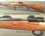 """CLASSIC ARMS CORP.- 270 WIN.- MAUSER 1909 ARGENTINE ACTION- 24"""" Bbl. W/O OPEN SIGHTS- EXC. POINT PATTERN CHECKERING- CANJAR TRIGGER- NICE RIFLE"""