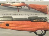 "HOLLAND & HOLLAND 375 H&H- MADE ABOUT 1956- REMINGTON MOD. 30 ACTION- 24 1/2"" Bbl.- OPEN SIGHTS- DEEP MAGAZINE BOX- ACCURATE RIFLE"