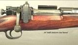 GRIFFIN & HOWE 1926 #128- TOTAL HJALMAR SWENSEN ENGRAVED- 30-06 SPGFLD ACTION- 3 FOLDING LEAF ISLAND SIGHT- ENGRAVED LYMAN RECEIVER SIGHT- NICE WOOD - 3 of 11