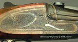 STEPHEN GRANT- 7 x 65R SIDELOCK BEST QUALITY SINGLE SHOT STALKING RIFLE- THE ULTIMATE SINGLE SHOT- OUTSTANDING ENGRAVING by KEITH THOMAS - 7 of 14