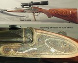 STEPHEN GRANT- 7 x 65R SIDELOCK BEST QUALITY SINGLE SHOT STALKING RIFLE- THE ULTIMATE SINGLE SHOT- OUTSTANDING ENGRAVING by KEITH THOMAS - 2 of 14
