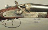 """MIDLAND 12 HAMMER TOPLEVER GAME GUN- EXC. ORIG. COND.- MADE in 1935- 28"""" EXTRACT Bbls.- DOLLS HEAD THIRD BITE- EXC. BORES- 80% ENGRAVING- SOLID - 2 of 9"""