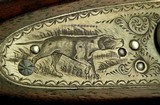 """MIDLAND 12 HAMMER TOPLEVER GAME GUN- EXC. ORIG. COND.- MADE in 1935- 28"""" EXTRACT Bbls.- DOLLS HEAD THIRD BITE- EXC. BORES- 80% ENGRAVING- SOLID - 8 of 9"""
