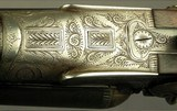 """MIDLAND 12 HAMMER TOPLEVER GAME GUN- EXC. ORIG. COND.- MADE in 1935- 28"""" EXTRACT Bbls.- DOLLS HEAD THIRD BITE- EXC. BORES- 80% ENGRAVING- SOLID - 7 of 9"""