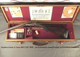 """STEPHEN GRANT 450 3 1/4"""" BPE- EXC. 1888 CLASSIC UNDERLEVER HAMMER EXP.- EXC. BORES- 85% FINE SCROLL ENGRAVING- EXC. WOOD- LOAD INFO- O&L CASE - 1 of 9"""