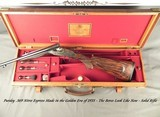 PURDEY .369 N. E.- RARE CALIBER in a PURDEY DOUBLE- GOLDEN ERA PIECE of 1935- BORES LOOK LIKE NEW- 90% ORIG. CASE COLORS- O&L TRUNK- EXC. WOOD- NICE