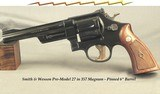"""SMITH & WESSON 357 MAGNUM PRE-MODEL 27- MADE in 1956- PINNED 6"""" BARREL- ALL SERIAL NUMBERS MATCH INCLUDING the GRIPS- OVERALL a 94% PIECE"""