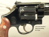 """SMITH & WESSON 357 MAGNUM PRE-MODEL 27- MADE in 1956- PINNED 6"""" BARREL- ALL SERIAL NUMBERS MATCH INCLUDING the GRIPS- OVERALL a 94% PIECE - 5 of 6"""