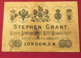 """STEPHEN GRANT 577/500 3 1/8"""" BPE- SIDELOCK 1887 CLASSIC TOPLEVER HAMMERLESS EXPRESS DOUBLE- VERY GOOD to NEAR EXC. BORES- ACCURATE- CASED w/ TOOL - 10 of 12"""