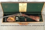 "WESTLEY RICHARDS DROPLOCK 12- 32"" Bbls.- 1925 TOTALLY ORIG GUN (Except Pad)- ""C"" BOLTING w/ 3rd BITE- SCALLOPED ACTION- HINGED"