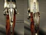 """SANDRO LUCCHINI 28 & 20 BORE SIDELOCK HAMMER GUN- BOTH Bbls. 29"""" CHOPPER LUMP- MADE 2001- NEAR EXHIBITION WOOD- EXC. ENGRAVING- OVERALL 98% - 4 of 10"""