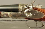 """SANDRO LUCCHINI 28 & 20 BORE SIDELOCK HAMMER GUN- BOTH Bbls. 29"""" CHOPPER LUMP- MADE 2001- NEAR EXHIBITION WOOD- EXC. ENGRAVING- OVERALL 98% - 6 of 10"""