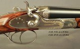 """SANDRO LUCCHINI 28 & 20 BORE SIDELOCK HAMMER GUN- BOTH Bbls. 29"""" CHOPPER LUMP- MADE 2001- NEAR EXHIBITION WOOD- EXC. ENGRAVING- OVERALL 98% - 3 of 10"""