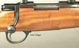 SAKO CUSTOM 223 REM.- ACCURATE- VERY NICE CLASSIC STOCK WORK with BASTOGNE WALNUT- MODERN 4 x 38 WEAVER SCOPE- OVERALL 95-96%- SHORT ACTION - 2 of 6