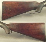 """MANTON & Co. 10 BORE EXPRESS- EXC. PLUS FULL RIFLED BORES THAT ARE 9 - 9.5%- 26 1/4"""" DAMASCUS Bbls.- PROVED in LONDON- 10 Lbs. 4 Oz.- 2 7/8"""" - 5 of 7"""